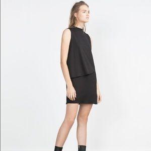 ZARA BLACK CORPORATE COCKTAIL BODY CON MINI DRESS